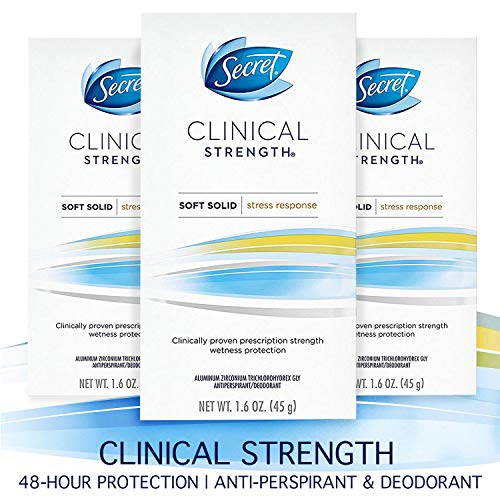 Secret Clinical Strength Antiperspirant & Deodorant Soft Solid Stress Response - 1.6oz