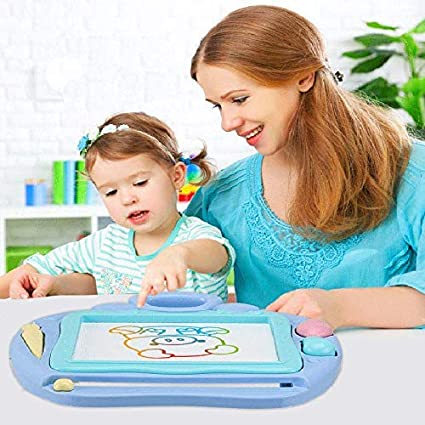 Magnetic Erasable Drawing Pad for 1 2 3 4 5 6 Year /& Up Old Toddler boy Girls Best Gift Blue HXTX Magnetic Drawing Board,Magnetic Doodle Board