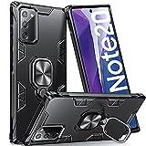 Supdeal Kompatibel für Samsung Galaxy Note 20 Hülle, Handyhülle besitzen stoßfesten 360-Grad-Magnetring Kratzfeste Mode TPU-Schutz, Schwarz