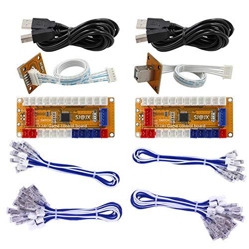 SJ@JX Arcade Game USB Encoder Zero Delay 2 Player Gamepad Button Joystick Controller for Nintendo Switch PC PS3 Raspberry Pi MAME