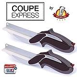 Kitchen Pro2 Stück Coupe Express Schneidewerkzeuge, 2-in-1, Original, ideales Küchwerkzeug zum Schneiden, Tranchieren und Abschneiden, schnell, für alle Anwendungen