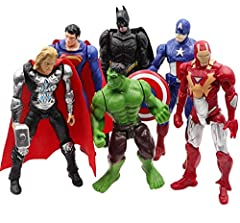 Good decoration to your tables, computer desks, cars, or cake toppers. 100% New & Great Condition, and made of safe material. Each figure has different appearance and vivid expression. Can be used as a decoration, collection or gift, 6 different Supe...