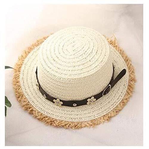 kyprx Frauen Skullies & amp; Beanies Günstige Frauen Flat Top Frauen Trip Caps Freizeit Pearl Beach Sonnenhüte Schwarz Atmungsaktiv Blumenmädchen Hüte Weiß c