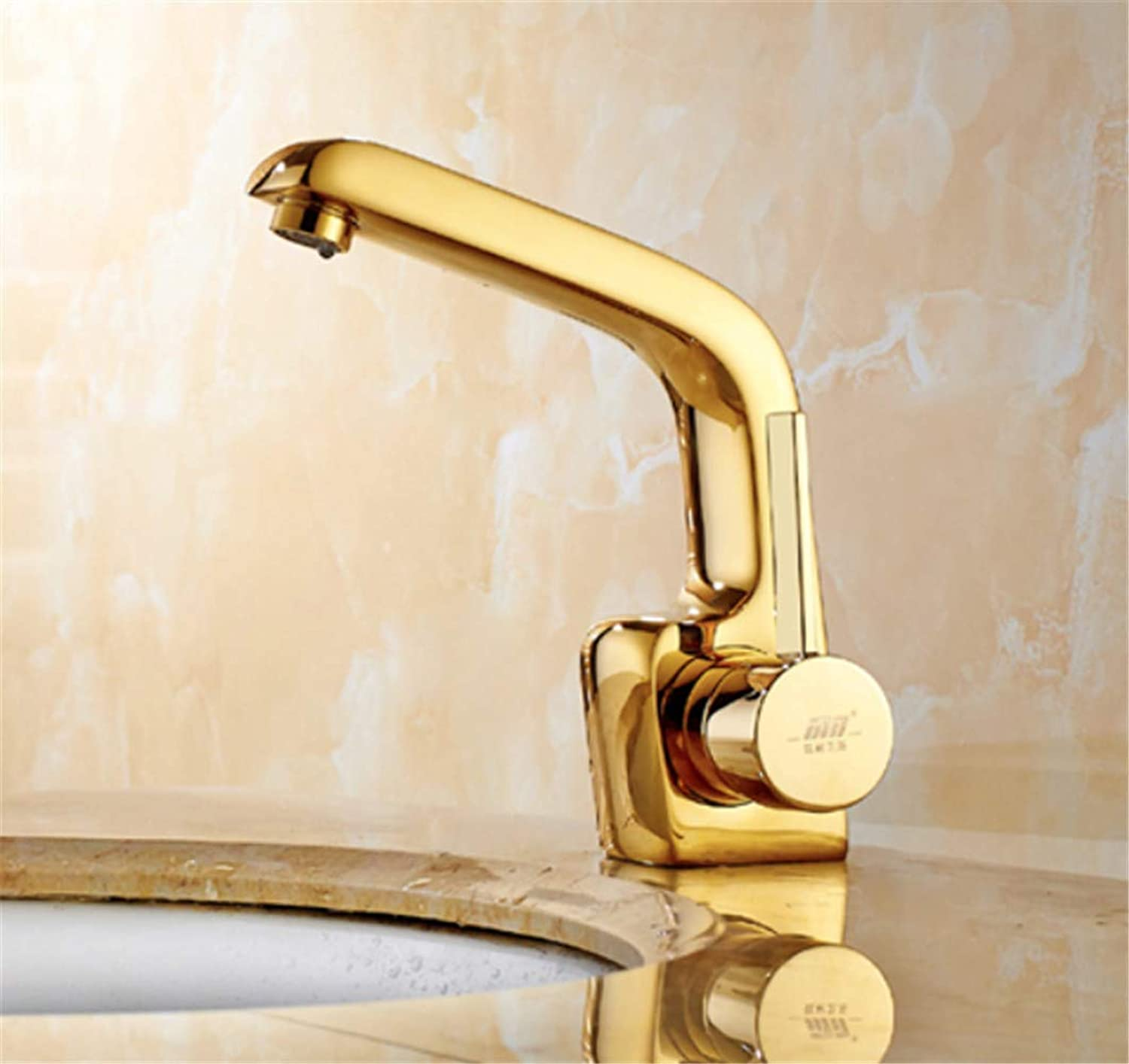Faucet Quality Warranty Basin Faucet European Style Copper gold Basin Faucet Bath Basin, Washbasin, Faucet, Hot and Cold Faucet