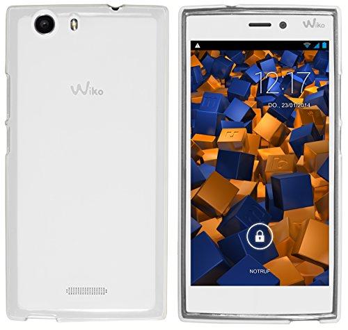 mumbi Hülle kompatibel mit Wiko Ridge 4G Handy Hülle Handyhülle, transparent weiss