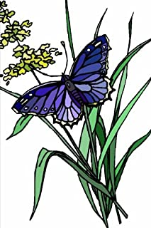 Purple butterfly: Journal (notebook, composition book) 160 Lined / ruled pages, 6x9 inch (15.24 x 22.86 cm) Laminated