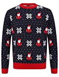 "Tokyo Laundry Herren Pullover ""Merry Christmas"" Gr. Medium, Santa Fairisle Tinte"
