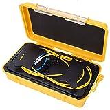 Caja de cable de lanzamiento OTDR de fibra óptica, cable de extensión de prueba LC/UPC-LC/UPC monomodo de 500 m Cable de lanzamiento de fibra óptica, caja de cable de lanzamiento de fibra óptica