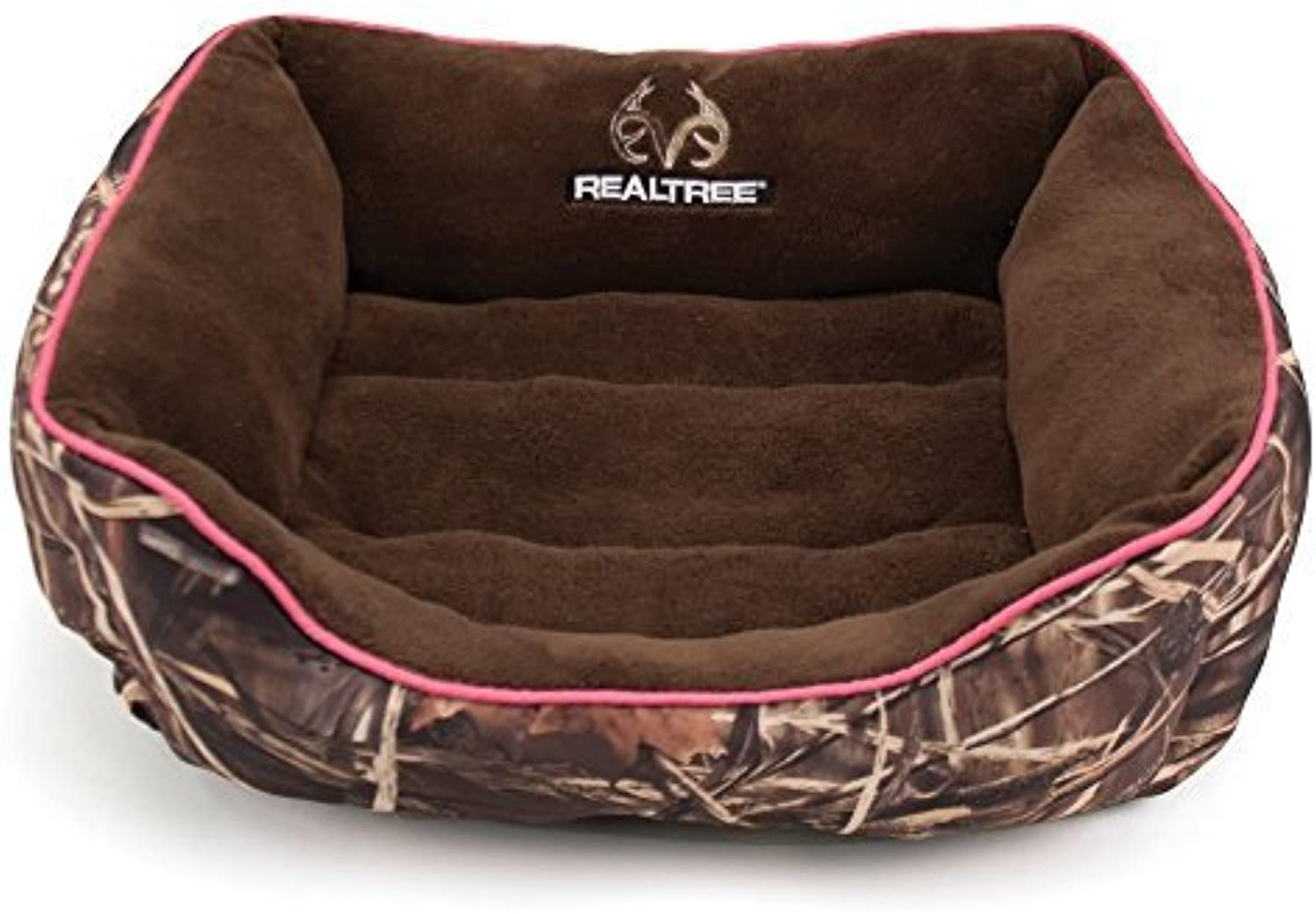 Dallas RR2125160.2 Realtree Box Bed, Camo with Pink Piping, 25 x 21 by Dallas Manufacturing Co.