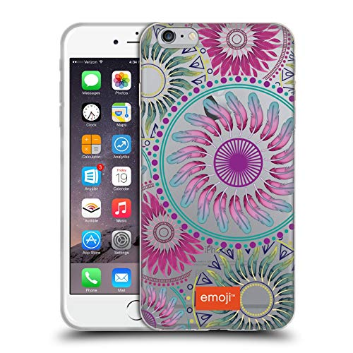 Head Case Designs Licenciado Oficialmente Emoji Mandala Hippie Chic Carcasa de Gel de Silicona Compatible con Apple iPhone 6 Plus/iPhone 6s Plus