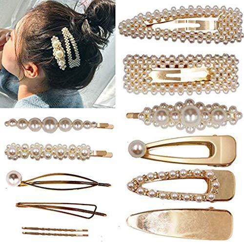 Gaddrt Haarnadel Haarklammer Frauen Perle Diamant Haarspange Stirnband Haarnadel Haarspange Kamm...