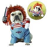 TVMALL - Disfraz de muñeco mortífero para perros y mascotas, disfraz de Halloween para perros...