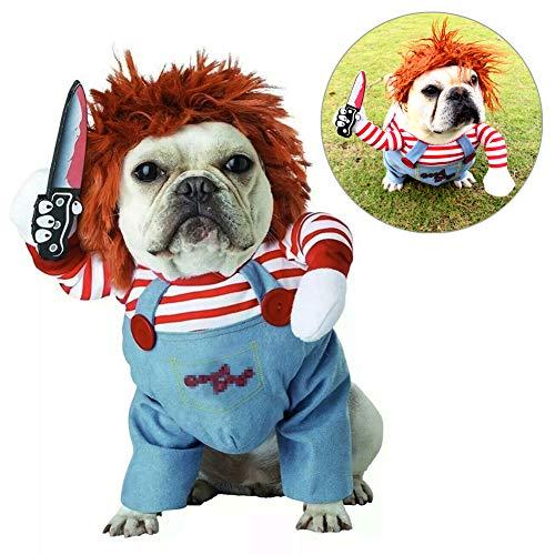 TVMALL - Disfraz de Mascota para Perros pequeños, Disfraz de Halloween, Disfraz de Perro pequeño, Disfraz de Navidad (M)