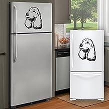 Cocker huisdieren - Koelkast sticker zelfklevend vinyl - A4 formaat - kunst decor/muur decor/keuken sticker