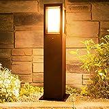 LEDMO LED Wegeleuchten Aussen 16W E27 LED Gartenlampe Außen 3000K LED Pollerleuchte Aussen IP65 LED Wegbeleuchtung 60CM.