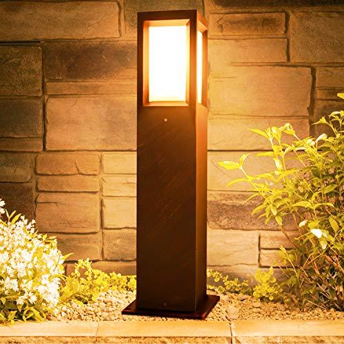 Kingwen LED Wegeleuchten Aussen 16W E27 LED Gartenlampe Außen 3000K LED Pollerleuchte Aussen IP65 LED Wegbeleuchtung 60CM.