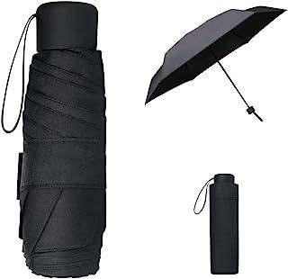 Vicloon Mini Ombrello Pieghevole Antivento, Ombrello da Viaggio Piccolo e Portatile, Tessuto in Gomma Nera di alta Qualità...