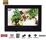 Soulaca 42 Pollici Smart Android Impermeabile Nera Bagno TV Full HD con Altoparlanti Integrati