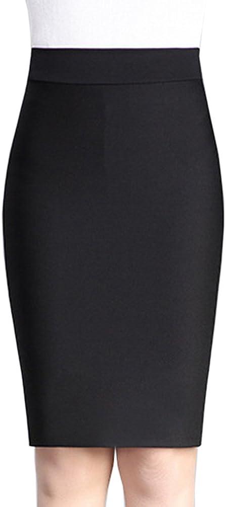 Blansdi Women Elegant High Waist Package Hip OL Wear to Work Bodycon Pencil Skirt