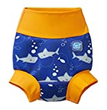Splash About New Improved Happy Nappy, Pannolino da Nuoto Riutilizzabile Unisex-Baby, Arancio Squalo, 0-3 Mesi