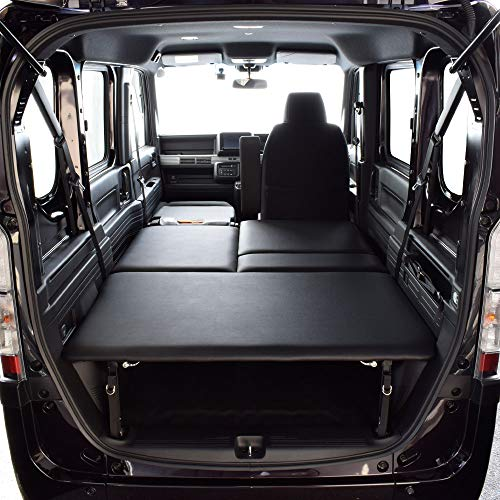 ホンダ N-VAN 車中泊 専用 フルベッド モード ベッドキット ブラックレザータイプ 20mmクッション材 車中泊マット
