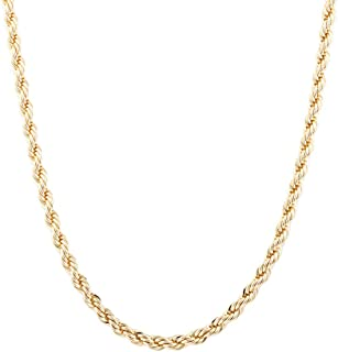 JOTW Goldtone 6mm Brass Rope Chain - Available in All Lengths (C403GOLD)