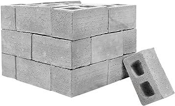 NszzJixo9 32Pcs Mini Cement Cinder Bricks Build Your Own Tiny Wall Mini Red Bricks,Mini Materials Miniature Cinder Blocks ...