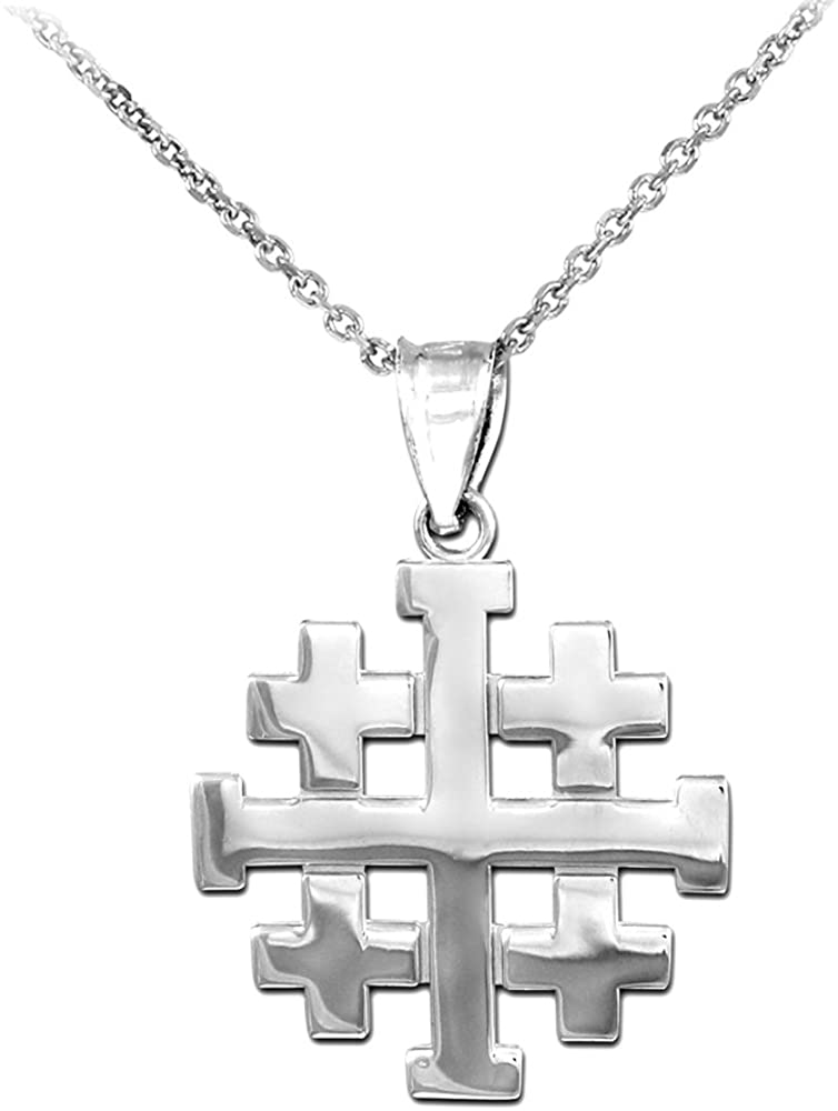 Religious Jewelry by FDJ Polished 925 Cru Finish Sterling Sale SALE% OFF Silver Ranking TOP1