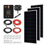 RICH SOLAR 600 Watt 12 Volt 3 Pcs 200W Panel+40A MPPT Charge Controller+ Bluetooth Module Fuse+ Mounting Z Brackets+Adaptor Kit...