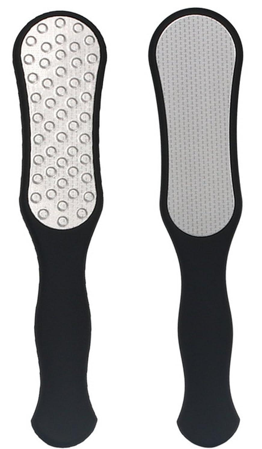 変な貼り直す水っぽいIvyOnly ビューティーフット足 かかと削り器 フットファイル 足裏ケアセット フット専用品 角質削り タコ 魚の目 除去 ステンレス製 錆びにくい (ブラック)
