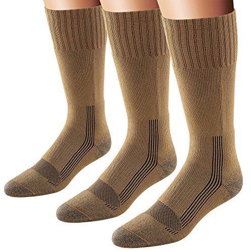 Fox River Men's Wick Dry Maximum Mid Calf Military Sock, 3 Pack (Coyote Brown, X-Large)