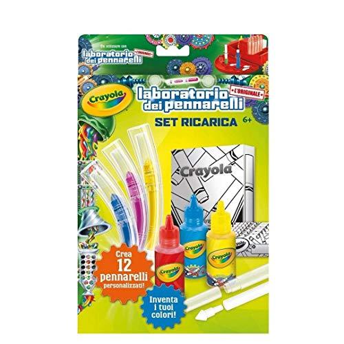 CRAYOLA- Set Ricarica Laboratorio dei Pennarelli, Multicolore, 74-7055