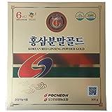 Pocheon 300g Korean Panax Red Ginseng Roots Powder Gold 6 Years, No Additives 100% Pure, High Ginsenoside