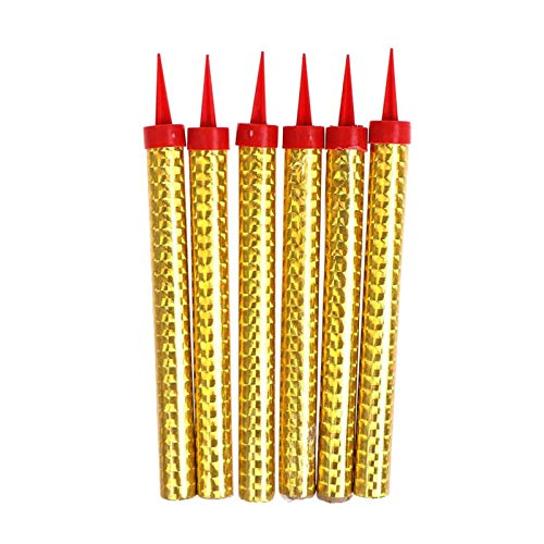 6PCS Birthday Candles Sparklers, Ice Fountain Candles, Cake Fountains Birthday Fountain Candles for Cakes, Gold