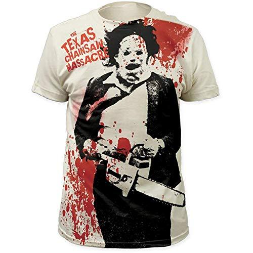 Funny T-shirt Maglietta Divertente La Maglietta Texas Chainsaw Massacre Leatherface Splatter Allover