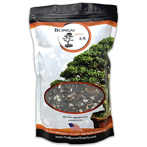 Bonsai Soil All Purpose Mix | Fast Draining Pre Blend Plant | Pumice, Lava, Calcined Clay and Pine Bark ● Potting Pre Mixed Bonsai Plant Soil Mixture by The Bonsai Supply (2 Quart Bag)