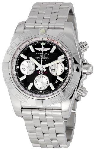 Breitling Men's AB011012/B967SS Chronomat B01 Black Dial Watch
