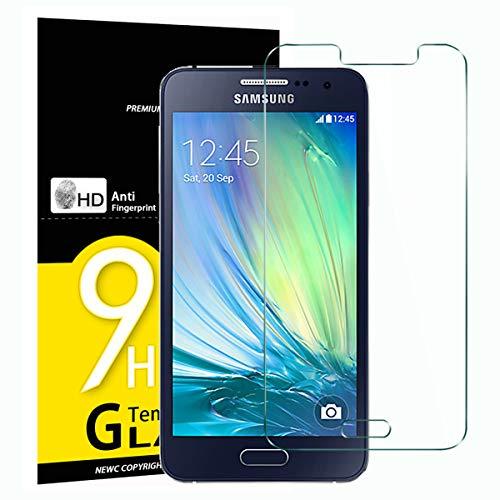 NEW'C 3 Unidades, Protector de Pantalla para Samsung Galaxy A7 2015 (SM-A700), Antiarañazos, Antihuellas, Sin Burbujas, Dureza 9H, 0.33 mm Ultra Transparente, Vidrio Templado Ultra Resistente