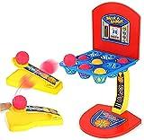 Mini baloncesto de mesa, mini juego de tiro de baloncesto, juguete de tiro de escritorio para niños Pinball Nine Square Grid Table Game, para niños adultos diversión familiar