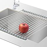 Roll Up Dish Drying Rack Multi-Purpose 304 Stainless Steel Roll-up Over The Sink