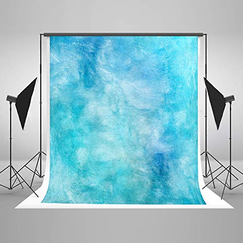 Kate 5×7ft Watercolor Abstract Photography Backdrop Blue Portrait Photo Background Cotton Cloth Photo Studio Booth Free Wrinkles Props