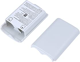2X White Battery Pack Cover Shell Case Kit for Xbox 360 Wireless Controller