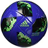 adidas World Cup Glider Trainingsball, hi-Res Blue s18/Solar Green/Silver met, 5