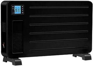 YYANG Calefactor de convección, portátil 2300 W, calentador de espacio eléctrico, con termostato, control remoto, temporizador de 24 horas, soporte o montaje en pared, color negro