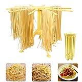 sifenma séchoir à nouilles, séchoir à pâtes frais, pliable, égouttoir à spaghetti avec 10 poignées