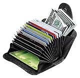 OFIXO RFID Credit Card Holder Protector Stainless Steel Credit Card Wallet Slim RFID Metal Credit Card Case for Women or Men (MATT Black)
