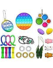Sensory Fidget Toys Set, 23 stycken autism särskilda behov leksak anti-stress leksak set sensorisk leksak anti-rädsla verktyg för födelsedagsfest förmåner, skolklasser belöningar, karnevalsspre