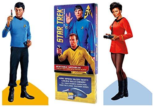 Originele Star Trek wenskaart Boxed Set - Die Gesneden Silhouette Kaarten van Kirk, Spok, botten, Scotty, Uhura, Sulu, Chekov