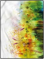 カーペット 薄型 優しいフランネルラグ ダイニングラグ 高級感 约 120*160cm フラワー廊下ラグキッズラグ保育園ラグオフィスカーペットバイオレットガーデンフラワー用チェアマット 寝室 寝室 耐磨耗性 ラグ 大片