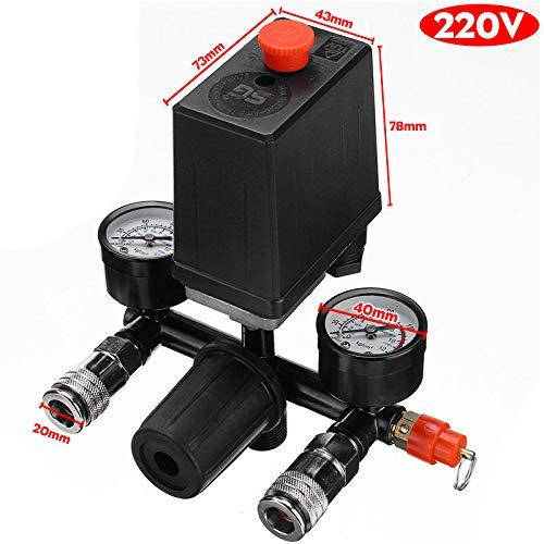 Manómetros del regulador del colector de la válvula de Control del Interruptor de presión del compresor de Aire NICOLIE con Conector rápido - A + B Cada 5 Piezas